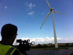 Tom filming at Juwi Renewable Energies